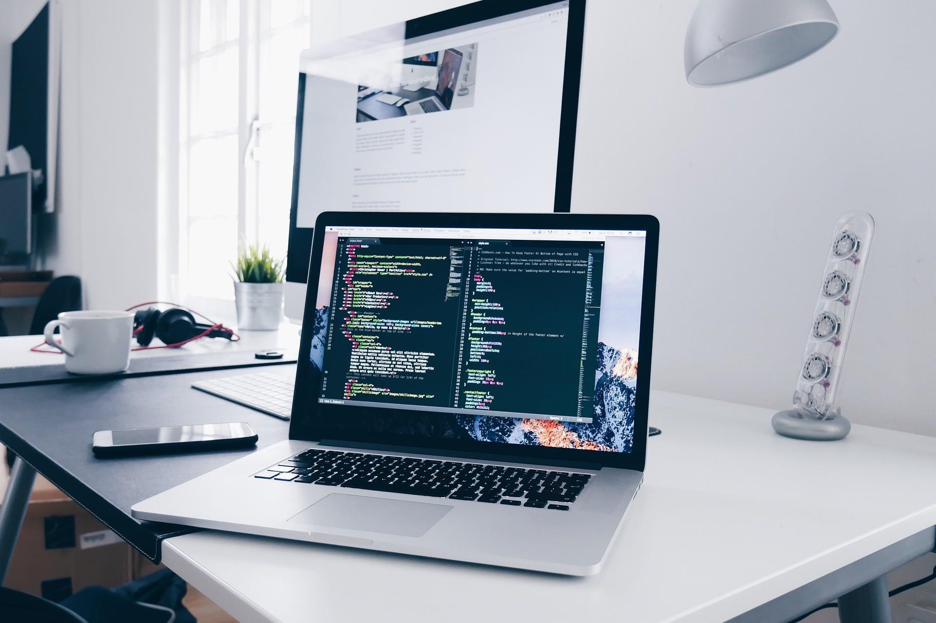 laptop met software